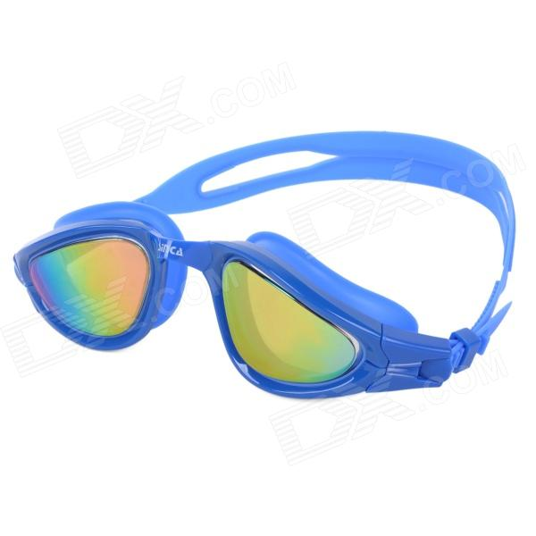 Sinca S988M PC Anti-fog Swimming Goggles w/ Ear Plugs + Nose Clips - Blue