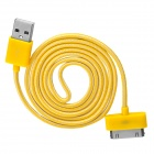 USB to 30-Pin Data/Charging Nylon Cable for iPhone 4 / 4S - Yellow + White