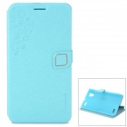 HELLO DEERE Feather Silk Series PU Leather Flip Open Case for BBK VIVO X5 - Blue