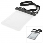Water Resistant TPU Bag for Ipad 1 / 2 / 3 / 4 - Black + Transparent