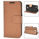 LXS9190 Protective PU Leather Case for Samsung Galaxy S4 Mini i9190 - Brown