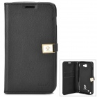 HELLO DEERE Jotter Series Protective PU Leather Flip Open Case for Samsung i9220 - Black