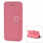 HELLO DEERE Stylish PU Leather Case w/ Stand for Iphone 5 - Deep Pink
