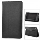 Stylish PU Leather Flip-Open Case w/ Stand for Google Nexus 7 (The Second Generation) - Black