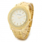 PAIDU 58931 Fashionable Crystal + Stainless Steel Analog Quartz Wrist Watch - Golden (1 x 626)