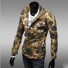 REVERIEUOMO Leisure Camouflage Jeans Coat - Army Green (Size L)