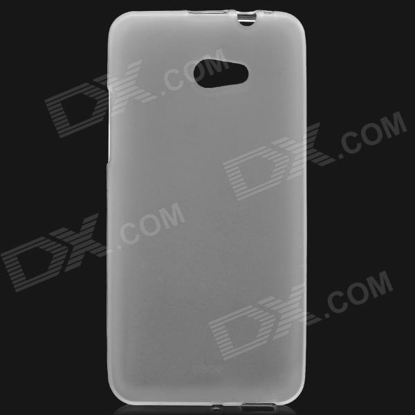 Stylish Protective Frosted TPU Back Case for HTC 9060 Butterfly S - Translucent White