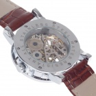 ORKINA KC023 Double-Side Hollow Style Automatic Mechanical Analog Men's Wrist Watch - Brown + Silver