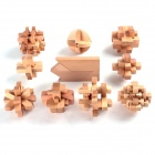 YXWJ YX467 10-in-1-Training Intelligenz Wooden Interlock Puzzle Spielzeug - Gelb
