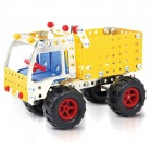 Iron Commander SM146700 DIY Metal Assembled Skip Toys - Silver + Yellow + Red