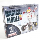 Iron Commander SM146750 DIY Metals Assemble Robot - Silver + Yellow + Red