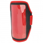 Sports Gym PVC + Neoprene Armband Case for Sony Xperia Z Ultra XL39h - Red + Black