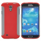 Detachable Protective PC + TPU Back Case for Samsung Galaxy S4 i9500 - Red + Translucent White