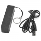 Compact 2600mAh Rechargeable Portable Li-ion Power Bank Tube for Samsung / Blackberry + More - Black