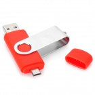 Cellphone External USB / Micro USB Flash Drive - Red + Silver (32GB)