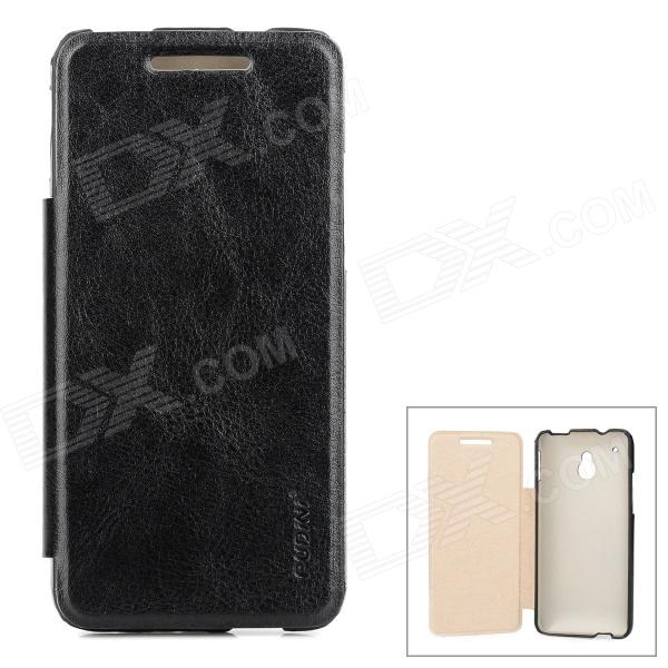 PUDINI WB-1020R Protective Flip Open PU Leather Case for HTC One Mini M4 - Black protective abs matte varnishing back case for htc one mini m4 black