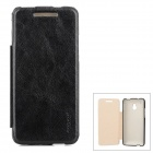 PUDINI WB-1020R Protective Flip Open PU Leather Case for HTC One Mini M4 - Black