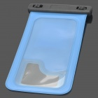 Stylish Waterproof Bag Pouch Case for Samsung i9200 + More - Blue + Black