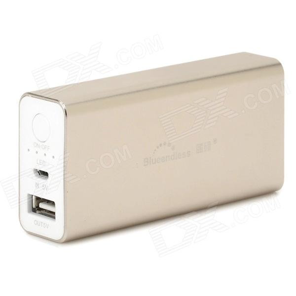 Blueendless BS-N5 External 5200mAh Power Battery Charger for Iphone / Samsung / Xiaomi - Champagne