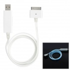 USB to 30-Pin Data / Charging Lighting Flow Cable for iPhone 4 / 4S - White (85cm)