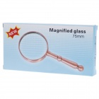 Handheld Zinc Alloy Handle 75mm 7X Magnifier - Bronze