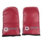 WIN.MAX WMF12068 Professional Junior Boxing Training Gloves - Red + White + Black (Pair)