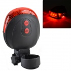 SL-116 7-Mode 5 LED Safety Tail light w/ 2 Laser Launcher - Black + Red (2 x AAA)