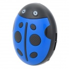 HYTJK007 Ladybird Style MP3 Player w/ TF Slot - Blue + Black (3.5mm Jack)