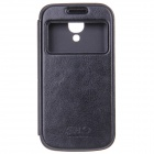 Protective TPU Back Case + PU Leather Cover for Samsung Galaxy S4 Mini i9190 - Black