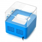 USB Powered Drink Cooling Fridge / Heater - Transparent + Blue