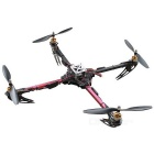 Quadcopter + 4 Motors + 4 Support Propellers + 4 Electronic Speed Controllers DIY Set - Black