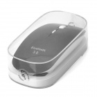 Super Slim Wireless Bluetooth V3.0 + Optical Mouse for IPHONE / Mac System - White + Black