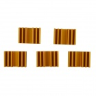Aluminum Heatsink Radiator - Gold (13.7 x 20 x 6mm / 5PCS)