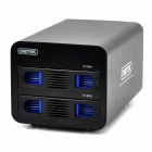 Unitek Y-3355 USB3.0 / eSATA 2 Bay SATA HDD Raid Enclosure - Black (6TB Max.)