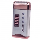 BOLI RSCW-6008 Electric Rechargeable Shaver Razor - Silver + Grey Brown (220V)