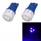 T10 3W 144lm 6 x 5630 SMD LED Blue Light Car Blinker Corner Parking Lamp (DC 12V / 2 PCS)