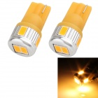 T10 3W 144lm 6 x 5630 SMD LED Gelb Light Car Blinker Corner Parking Lamp (DC 12V / 2 PCS)