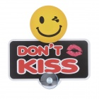 """DON'T KISS"" Pattern Decorative PVC Car Warning Stickers w/ Suction Cup - Yellow + Red + Black"