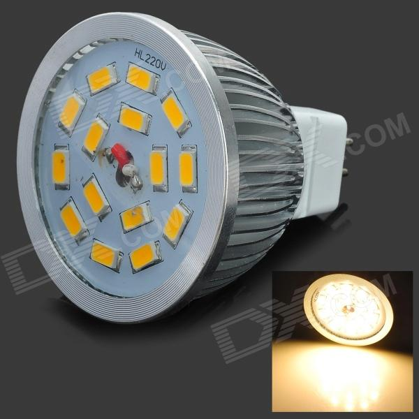 Lexing LX-SD-003 6W MR16 430lm 3500K 15-SMD-5630 Warm White LED Lamp (DC 12V) lexing lx lzd 1 e14 3w 200lm 3500k 6 smd 5730 led warm white lamp bulb 85 265v