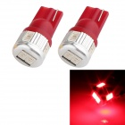 T10 3W 144lm 6 x SMD 5630 LED Red Light Car Turn Signal Corner Parking Lamp (DC 12V / 2 PCS)