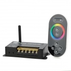 RF201 576W 2.4GHz Wireless 3-CH LED RGB Full Color Controller w/ Touch Remote Control - Black