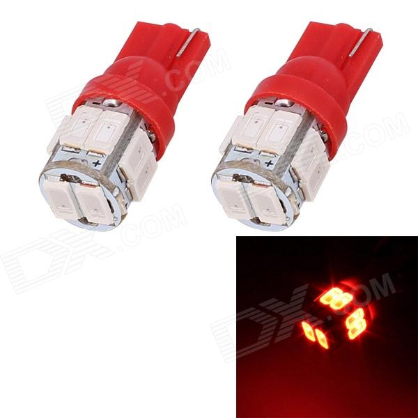 T10 5W 240lm 10 x SMD 5630 LED Red Light Car Turn Signal Corner Parking Lamp (DC 12V / 2 PCS)Tail Lights<br>Quantity2Form  ColorWhiteEmitter TypeLEDChip BrandOthersChip TypeotherTotal Emitters1Color BINRedPowerOthersWavelength630~660Connector TypeT10,OthersApplicationSteering light,Signal light,Tail light,OthersPacking List2 x LED Bulb<br>