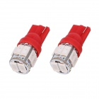 T10 5W 240lm 10 x SMD 5630 LED Red Light Car Turn Signal Corner Parking Lamp (DC 12V / 2 PCS)