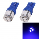 T10 5W 240lm 10 x SMD 5630 LED Blue Light Car Turn Signal Corner Parking Lamp (DC 12V / 2 PCS)
