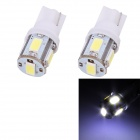 T10 2.5W 120lm 5 x SMD 5630 LED White Light Car Blinker Corner Parking Lamp (DC 12V / 2 PCS)
