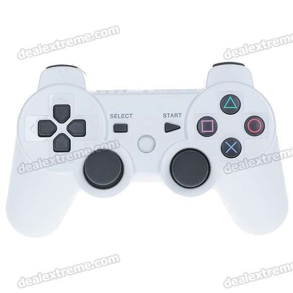 USB Rechargeable DualShock Wireless Controller for PS3/Playstation 3 (White)