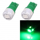 T10 3W 144lm 6 x 5630 SMD LED Green Light Car Blinker Corner Parking Lamp (DC 12V / 2 PCS)