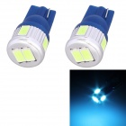 T10 3W 144lm 6 x SMD 5630 LED Ice Blue Light Car Turn Signal Corner Parking Lamp (DC 12V / 2 PCS)