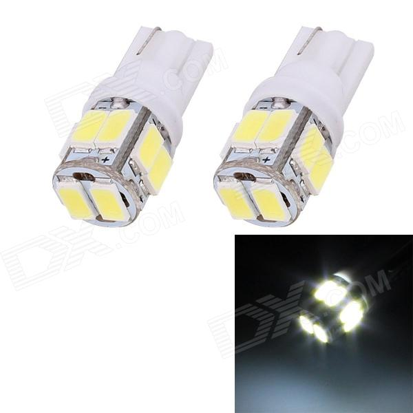 T10 5W 240lm 10 x SMD 5630 LED White Light Car Turn Signal Corner Parking Lamp (DC 12V / 2 PCS) highlight h3 12w 600lm 4 smd 7060 led white light car headlamp foglight dc 12v