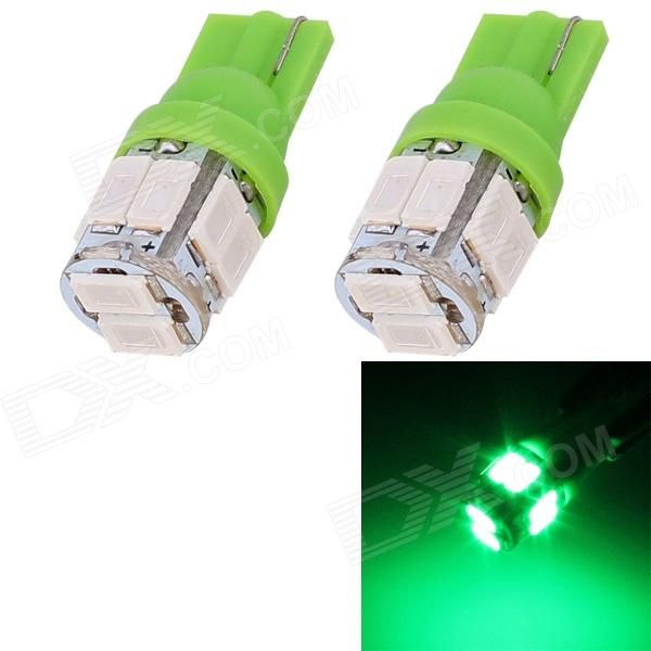T10 5W 240lm 10 x SMD 5630 LED Green Light Car Turn Signal Corner Parking Lamp (DC 12V / 2 PCS) cxa l0612 vjl cxa l0612a vjl vml cxa l0612a vsl high pressure plate inverter